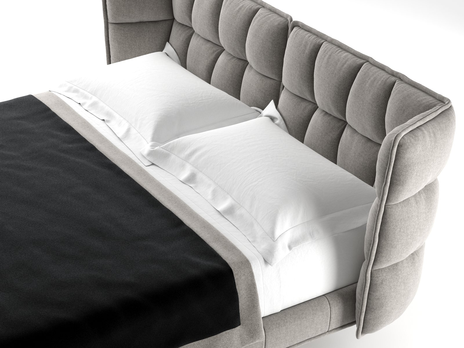 Husk bed 3d model b b italia for B b furniture
