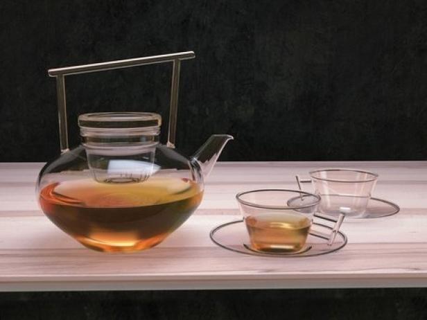 Glass Teapot Set 4