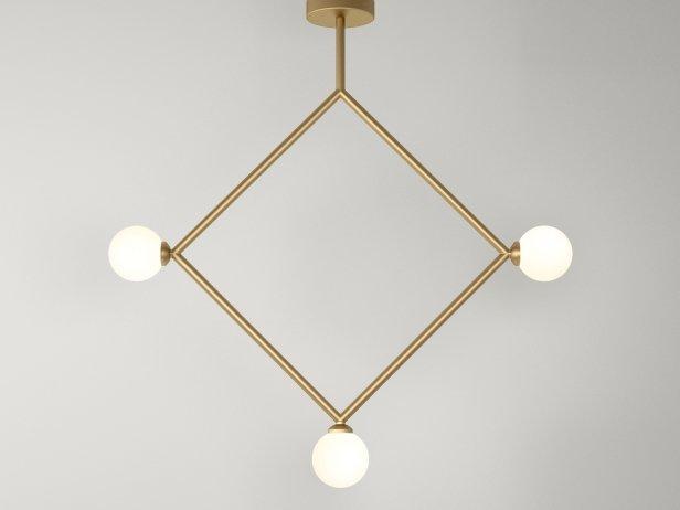 Rhombus 1 Globe Pendant Lamp 1