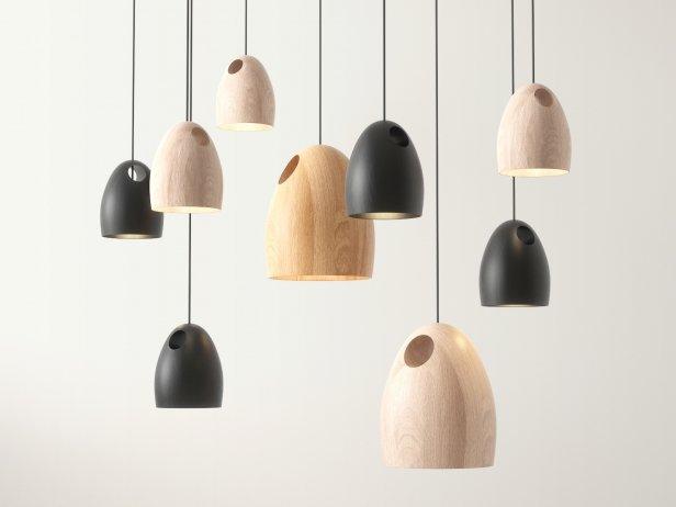 Oak Pendant Light 1