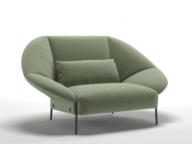 Paipai love seat ottoman 3d modell ligne roset for Sessel 3d dwg