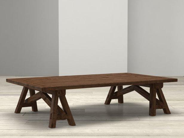 Benson Sawhorse Coffee Table 4