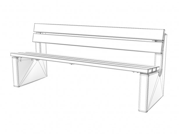 Maro Outdoor Bench with Backrest 5
