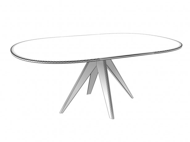 Noa 180 Oval Dining Table 2