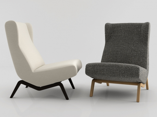archi easy chair 3d model ligne roset. Black Bedroom Furniture Sets. Home Design Ideas