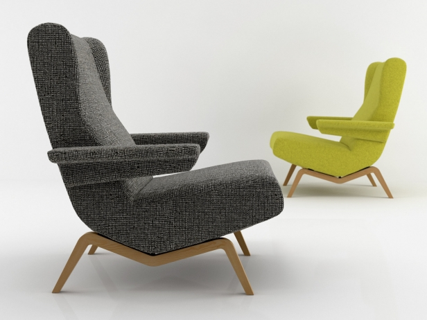 archi armchair modello 3d ligne roset. Black Bedroom Furniture Sets. Home Design Ideas