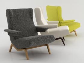 archi armchair 3d model ligne roset. Black Bedroom Furniture Sets. Home Design Ideas