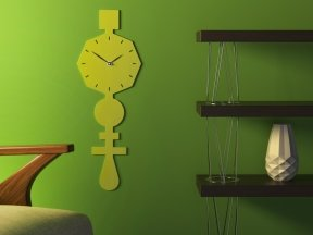 Codice Clock Lime Green