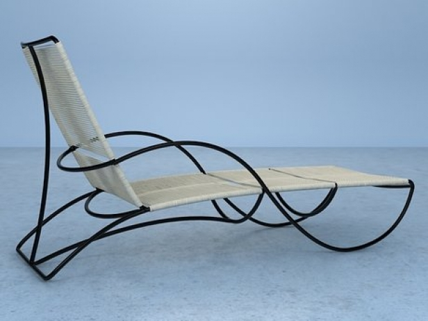 Bronze chaise 3d model brown jordan for Bronze chaise lounge