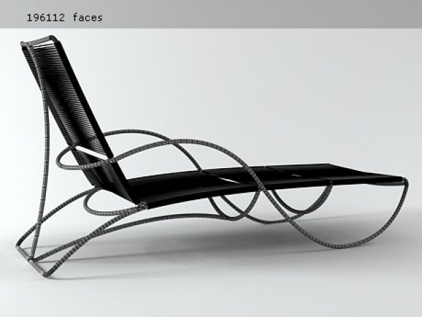 Bronze chaise 3d model brown jordan for Chaise 3d dessin