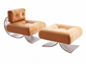 Alta Lounge Chair and Ottoman
