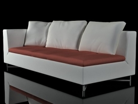 feng large 1 arm settee right 3d model ligne roset. Black Bedroom Furniture Sets. Home Design Ideas