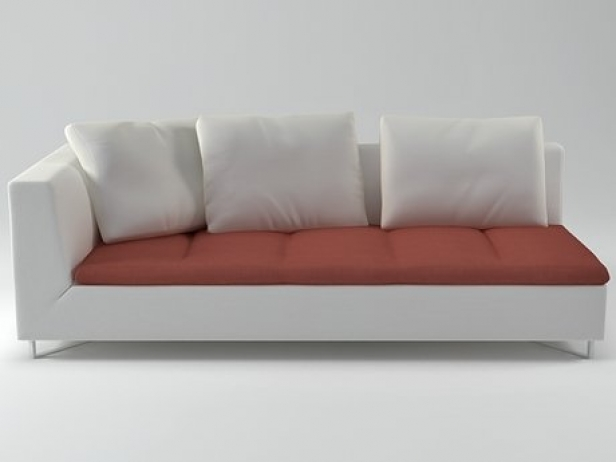 Feng Large 1-Arm Settee Right 3d model | Ligne Roset