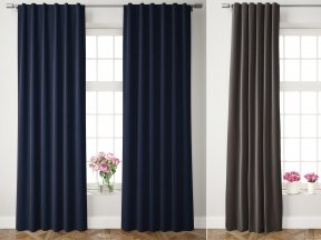 Velvet Pole Pocket Curtains 1