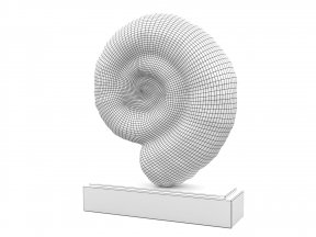 Fossil Iron-Marble Shell Sculpture 01