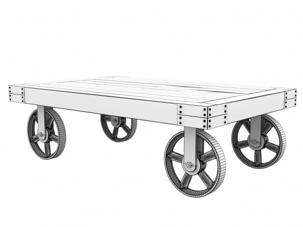 Industrial Cart Coffee Table 6