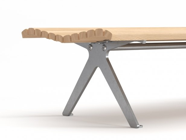 Poca Outdoor Bench without Backrest 4