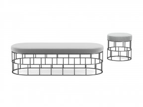 Riviera Bench and Ottoman
