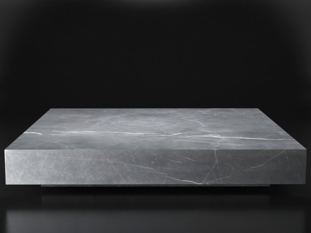 Low Marble Plinth Square Coffee Table 2
