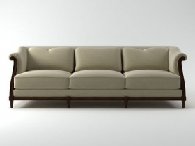 Exposed Wood Sofa