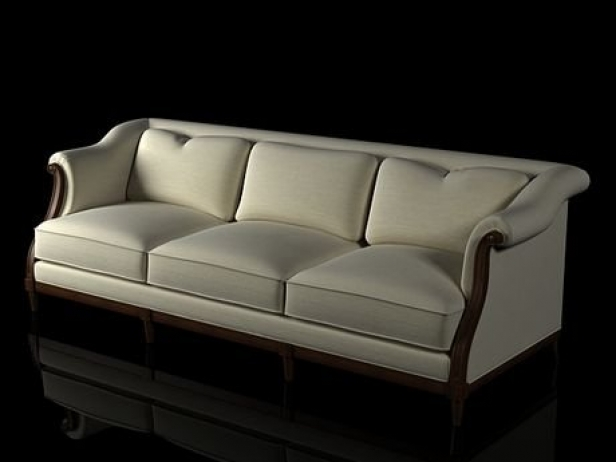Exposed wood sofa d model baker