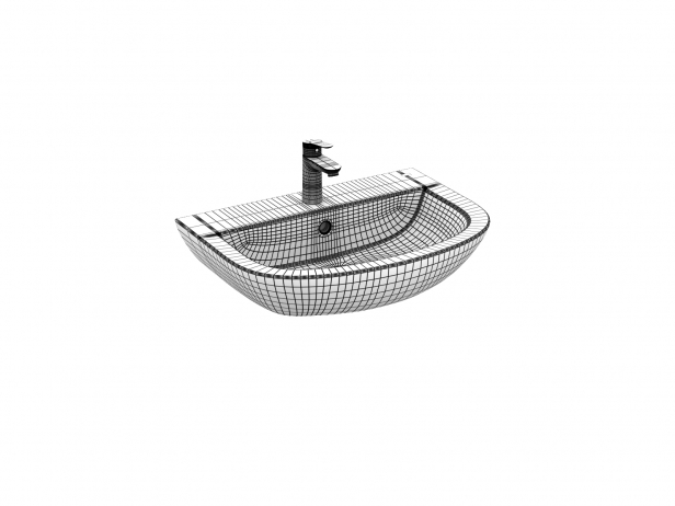 Bau Wall-hung Basin 60 Set 12