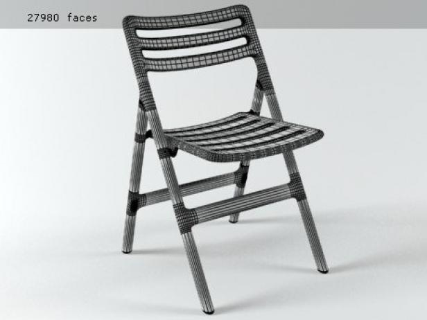 Folding Air Chair 3d Model Magis Italy