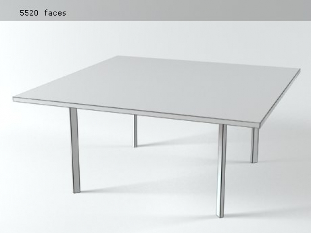 Barcelona table 3d model knoll - Barcelona table knoll ...