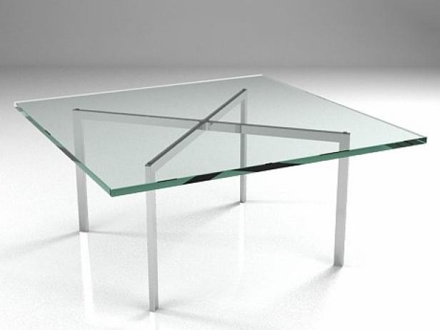 Barcelona Table 3d Model Knoll