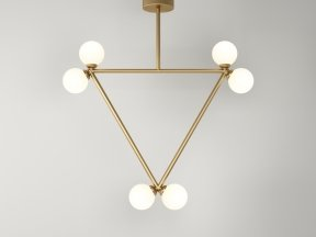 Triangle 2 Globe Pendant Lamp