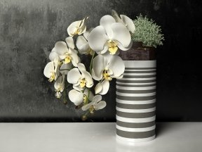 Inner Nature White Orchid Pot