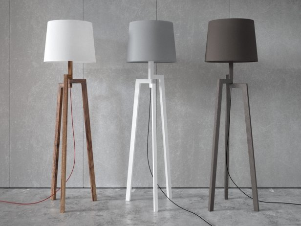 Stilt Floor Amp Table Lamps 3d Model Blu Dot