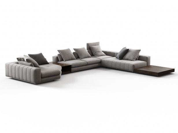 Freeman Corner Sofa System G 3d Model Minotti Italy
