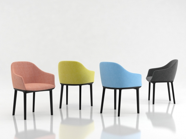 Softshell Chair 3d Model Vitra