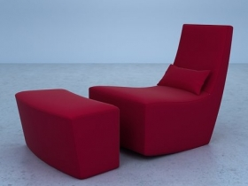 Neo Chair and Footstool