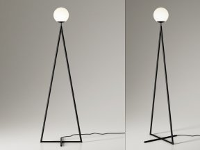 One Globe-One Cone Floor Lamp