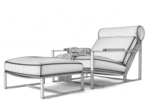 Cruisin Lounge Chair & Ottoman 9