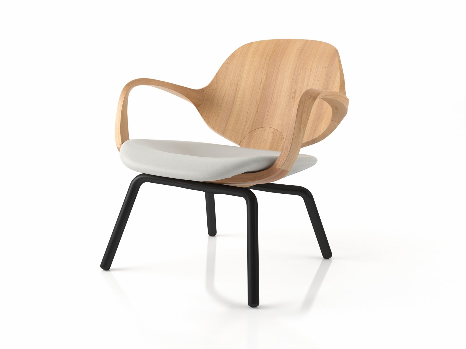 Clad armchair low 3d modell sollos for Sessel 3d dwg