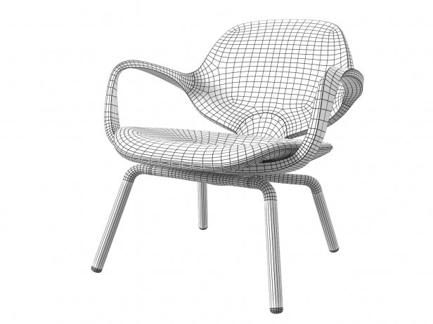 Clad Armchair Low 5