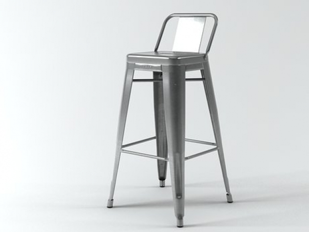 A56 Stool 3d Model Tolix Steel Design France