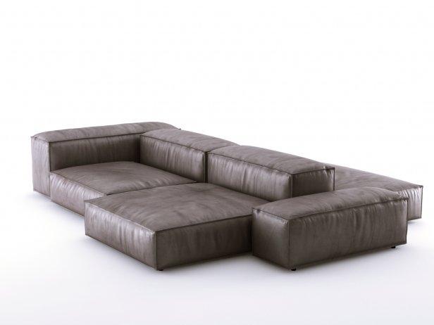 Living Divani Extra Soft.Extrasoft Sofa System 3d Modell Living Divani Italy