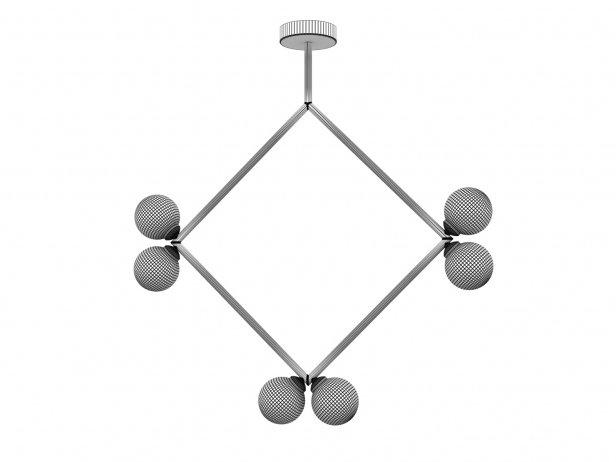 Rhombus 2 Globe Pendant Lamp 2