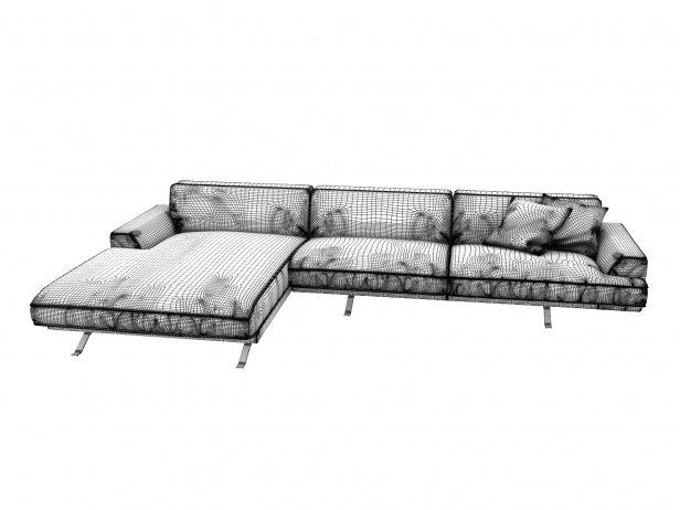 Slab Corner Sofa 5