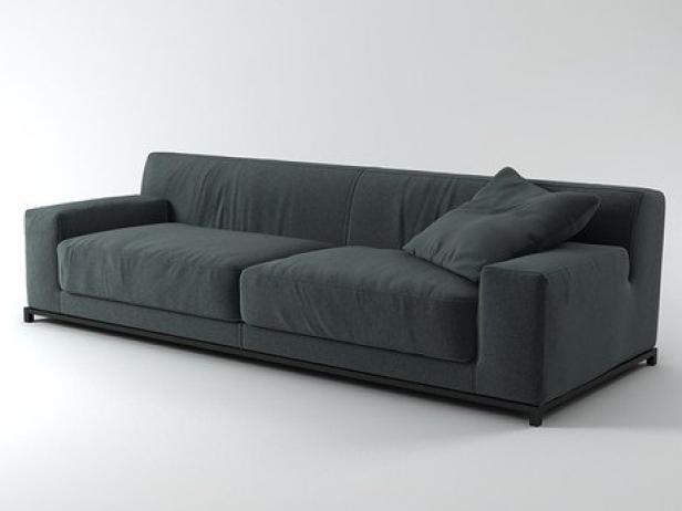freeman sofa system 3d model meridiani. Black Bedroom Furniture Sets. Home Design Ideas