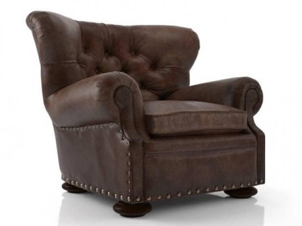 Churchill Leather Chair With Nailheads 1