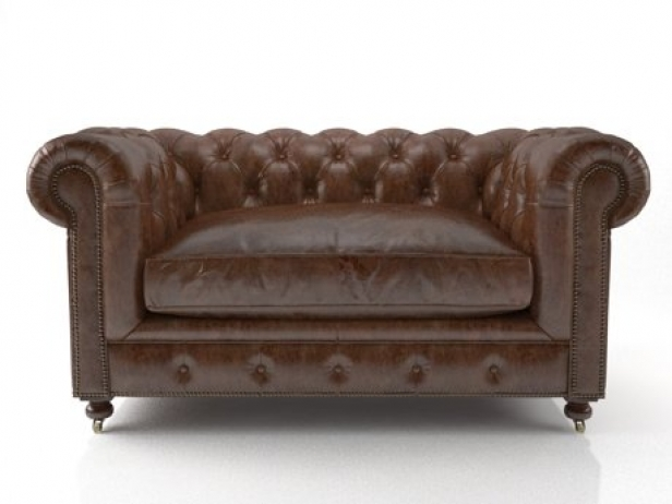 "60"" Kensington Leather Sofa 3"