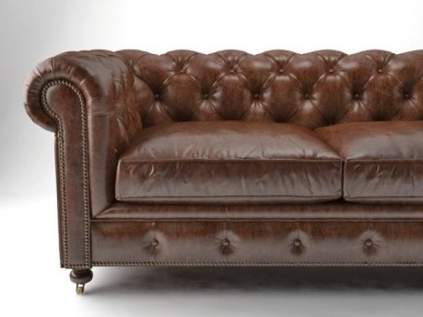 "72"" The Petite Kensington Leather Sofa 1"