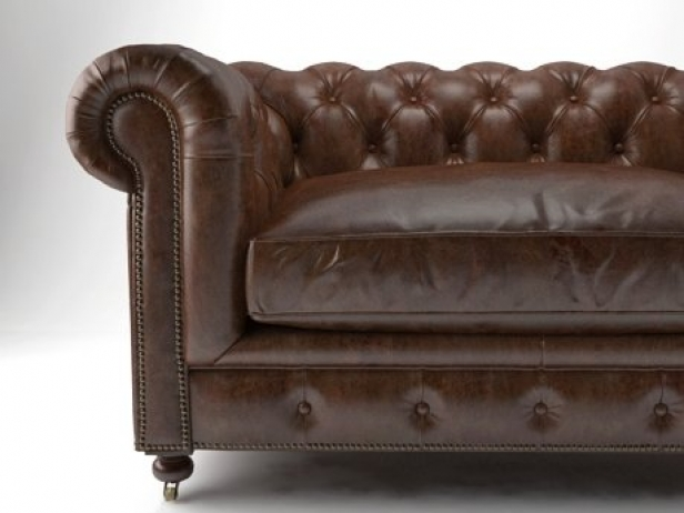 "60"" Kensington Leather Sofa 2"