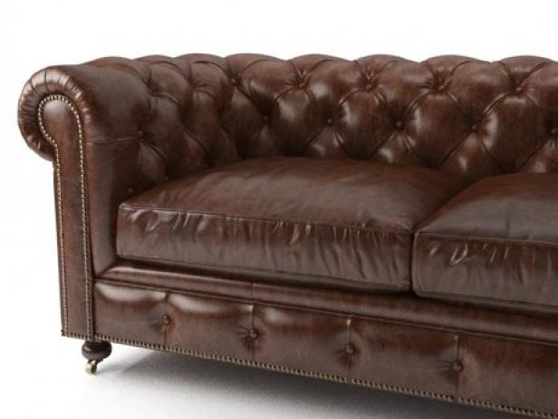 "72"" The Petite Kensington Leather Sofa 4"