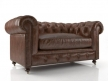 "60"" Kensington Leather Sofa 4"
